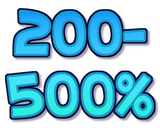 500% - 200% casino bonus