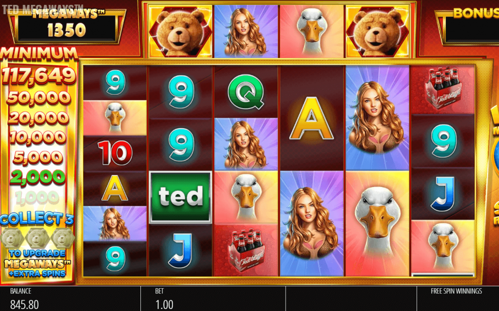 Ted Megaways Free Spins