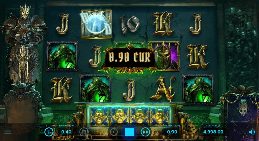 Dark King: Forbidden Riches Asetelma